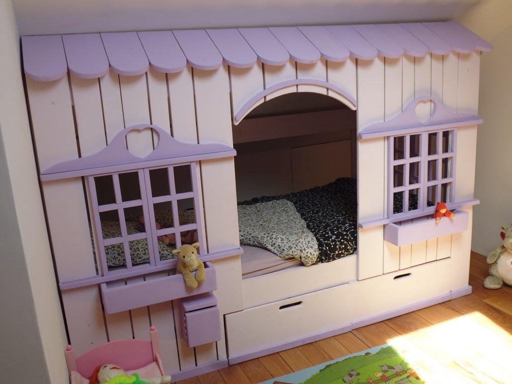 Abramacabane - Lit Cabane Mini House pour fille et garçon