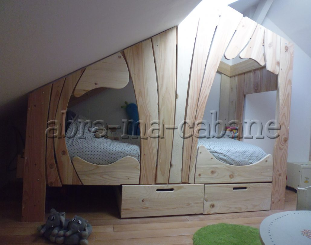 lit cabane bois massif enfant sequoia abra ma cabane. Black Bedroom Furniture Sets. Home Design Ideas