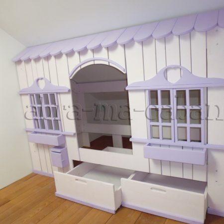 lit cabane tiroir
