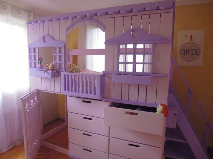 lit cabane rom o abra ma cabane. Black Bedroom Furniture Sets. Home Design Ideas