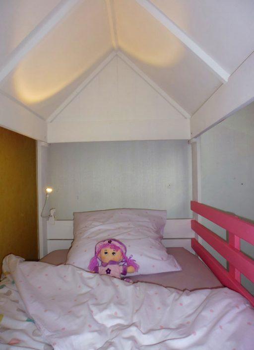 Intérieur du lit cabane