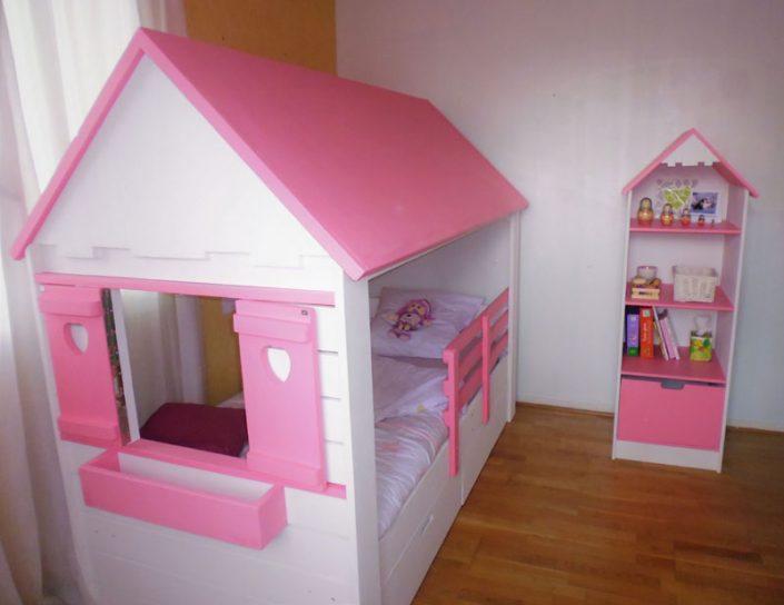 chambre du lit cabane