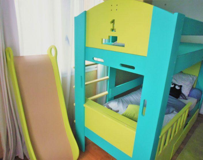 lit cabane pirate toboggan abra ma cabane. Black Bedroom Furniture Sets. Home Design Ideas
