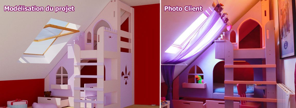 Awesome Chambre Fille Chateau Princesse Gallery - Antoniogarcia ...