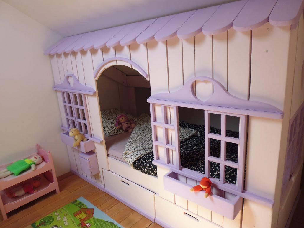 lit cabane mini house pour fille et gar on abramacabane. Black Bedroom Furniture Sets. Home Design Ideas