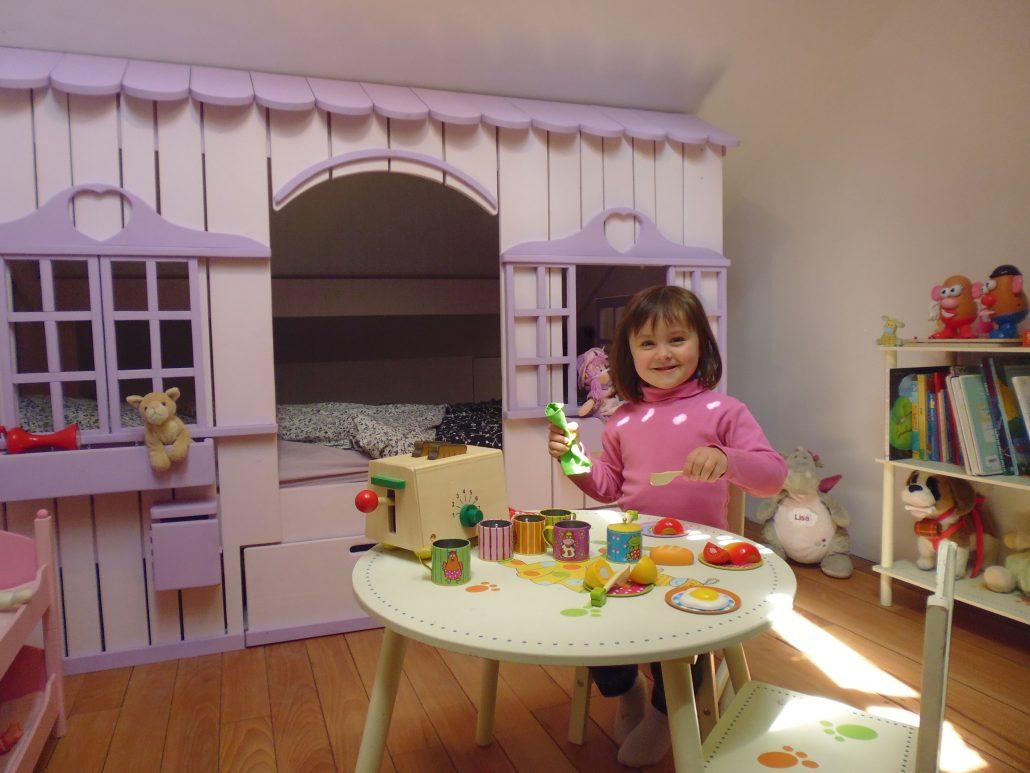Lit Cabane Mini House Pour Fille Et Garçon Abramacabane - Cabane sous lit