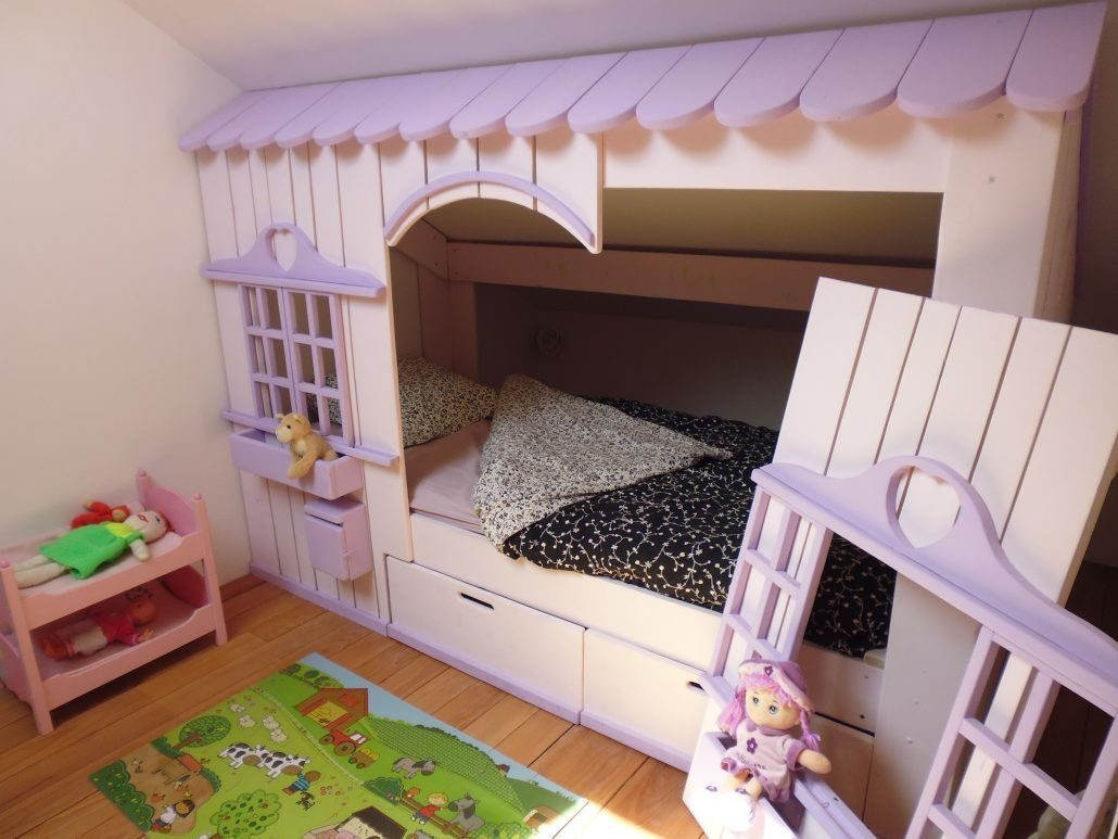 Lit Cabane Mini House Pour Fille Et Garçon Abramacabane - Lit cabane fille