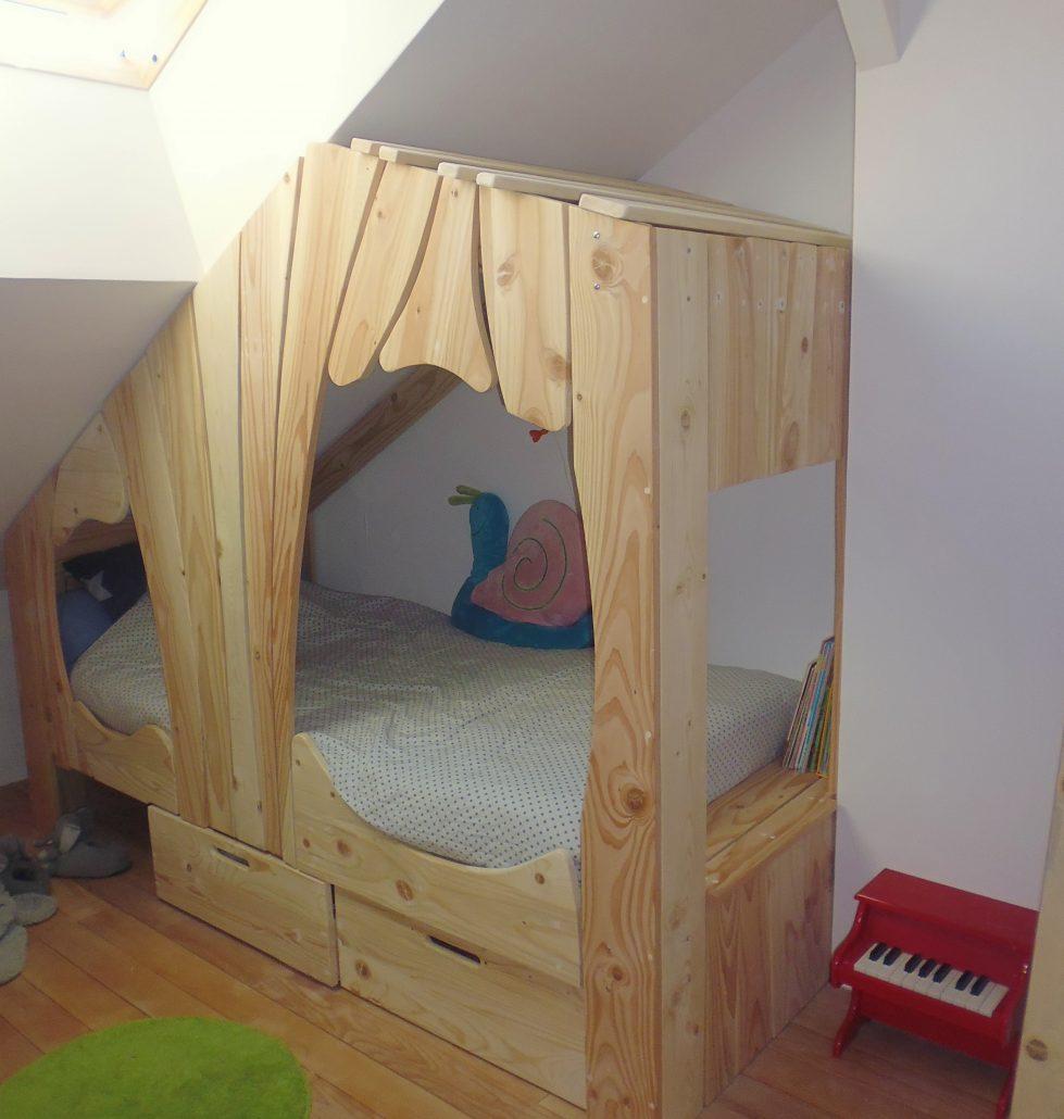 Lit Cabane Bois Massif Enfant Sequoia Abramacabane - Lit cabane pour garcon