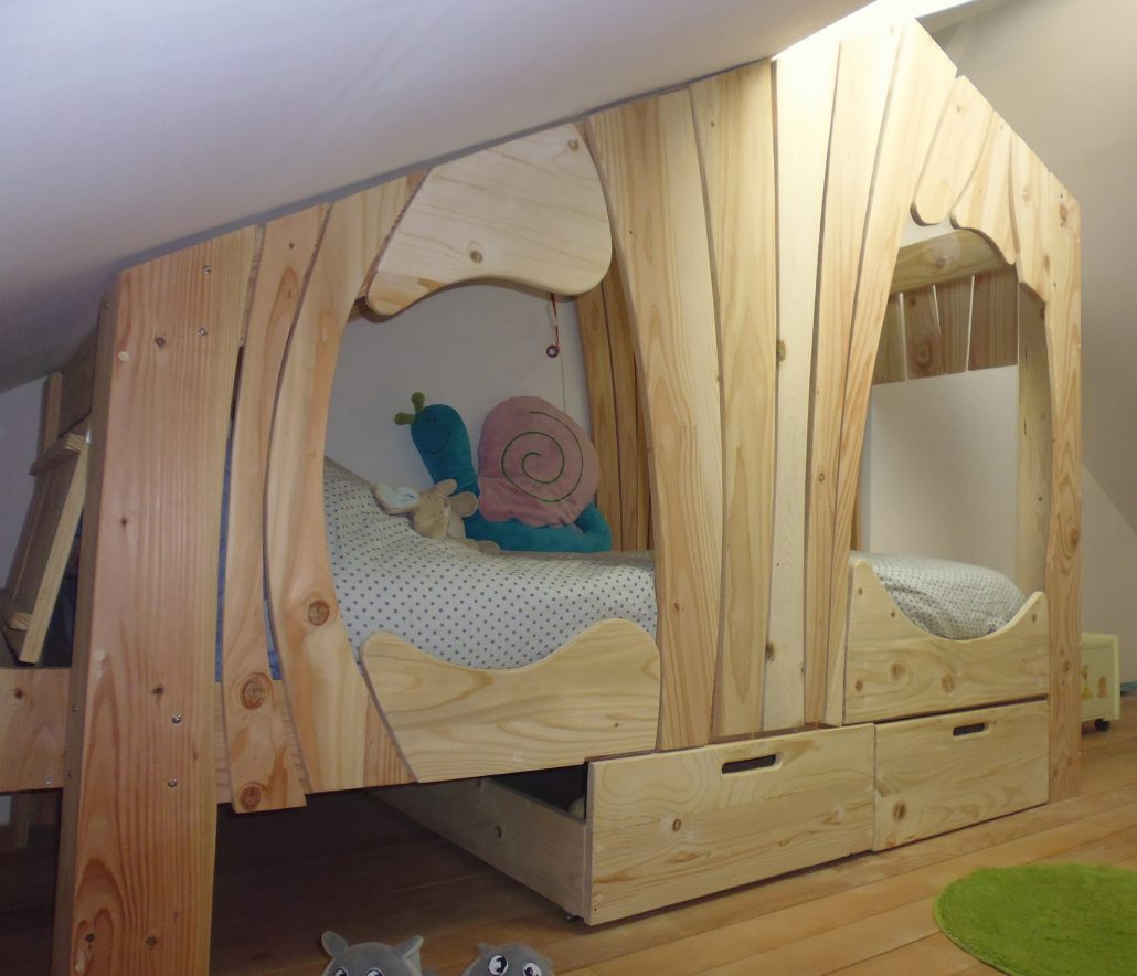 Lit Cabane Bois Massif Enfant Sequoia Abramacabane - Cabane dans le lit