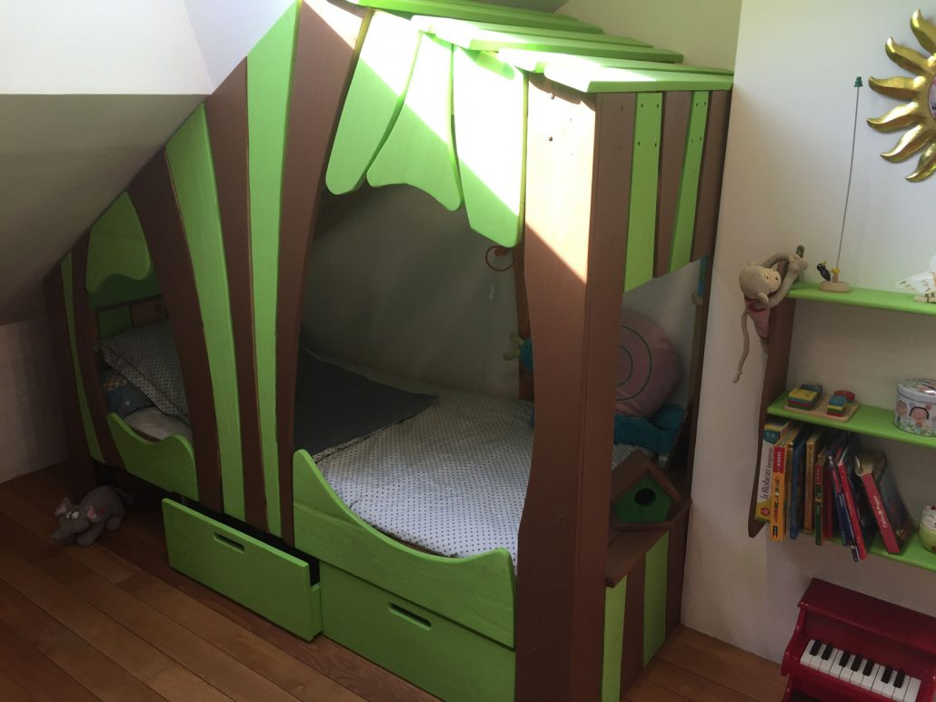Lit Cabane Bois Massif Enfant Sequoia Abramacabane - Cabane sous lit