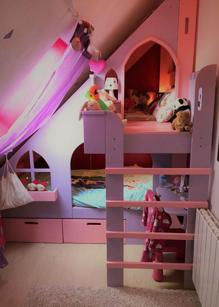 lit cabane chateau de princesse abra ma cabane. Black Bedroom Furniture Sets. Home Design Ideas