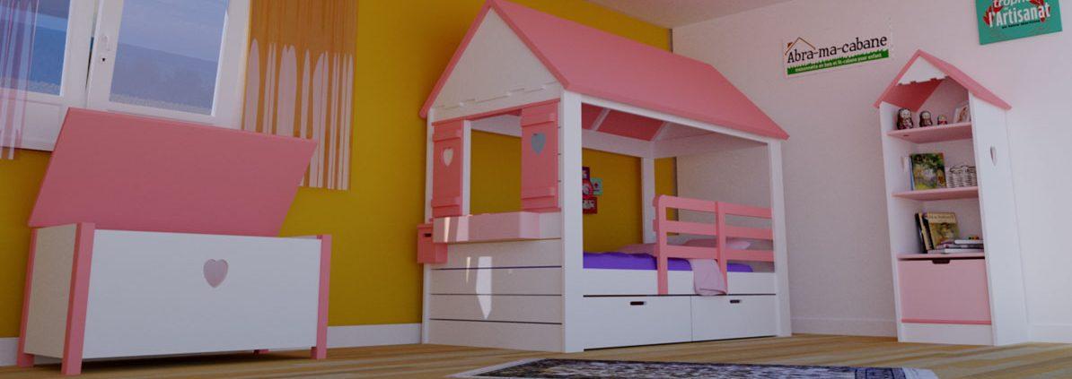 lit cabane fille maison lit cabane en bois pour. Black Bedroom Furniture Sets. Home Design Ideas