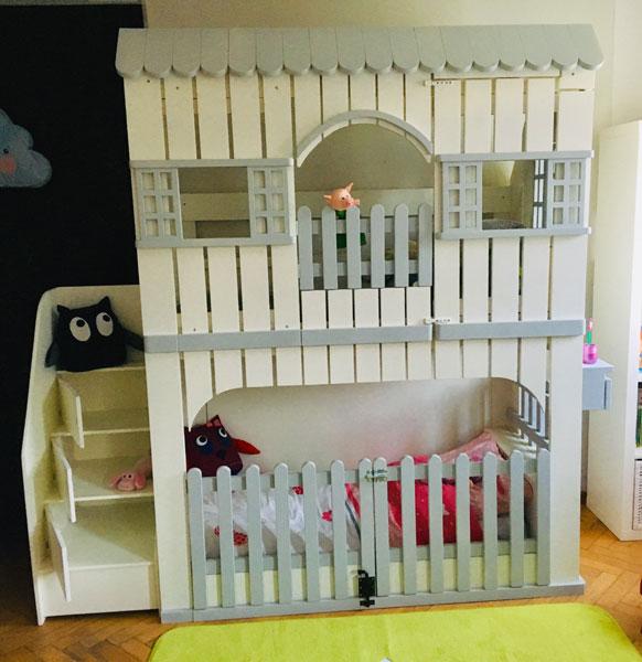 Lit cabane en bois sur mesure pour enfant abra ma cabane - Lit maison fille ...